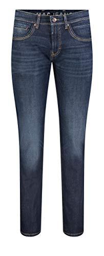 MAC Jeans Herren ARNE Pipe Slim Jeans, Dark Blue Authentic Used 3D Baffies, W33/L36