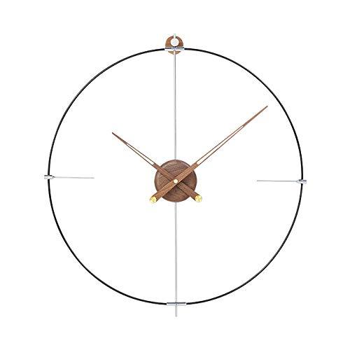 Reloj de pared grande de España con diseño moderno de metal, reloj de pared, reloj de pared para el salón, regalo de 60 cm