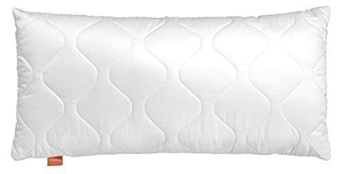 sleepling 190002 Basic 100 Kopfkissen Mikrofaser 40 x 80 cm, weiß