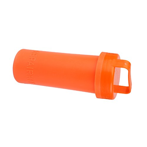 Orange PVC Réparation Conteneur Kit Seau de Kayak Bateau Pneumatique
