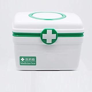 Cenpen Boîte de premiers soins Petit premiers soins médicaux Organisateur de stockage Boîte, Double Boîte de rangement en ...