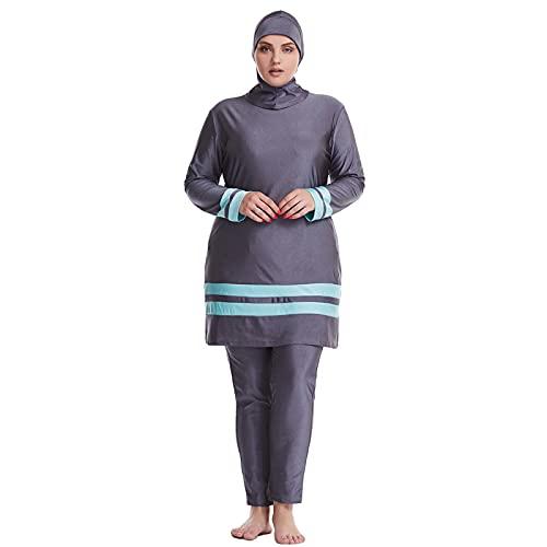 AllMonyba Talla Grande Traje de baño Mujer - Musulman Modesto Burkini Trajes de baño Islámico Kaftan Ropa de Playa con Hijab de natación