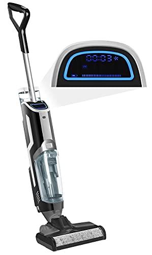 Sichler Haushaltsgeräte Staubsauger: 3in1-Boden-Wasch-Sauger mit Akku, Nass & Trocken, UV-C-Reinigung, 80 W (Waschsauger)