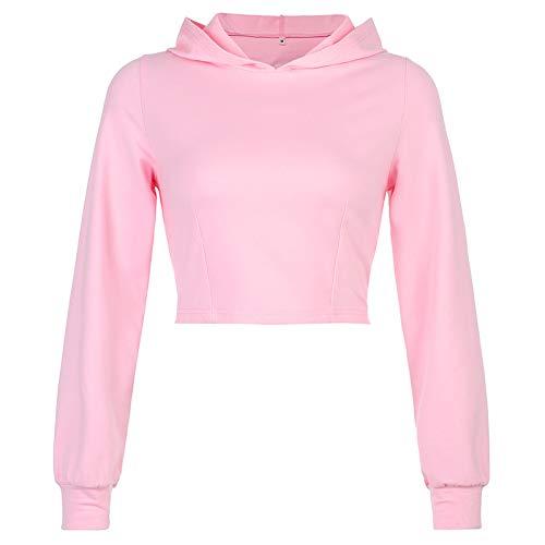 Katenyl Sudadera con capucha con cordones y espalda hueca para mujer, abrigo holgado a la moda, ropa de calle informal de color puro, chaqueta sexy M