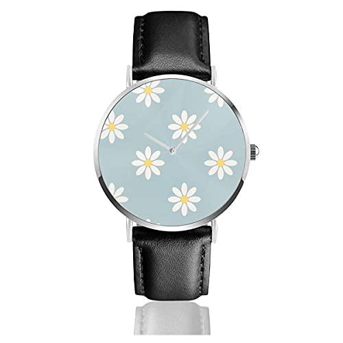 Orologio Marguerite Fond bleu Classic Casual Fashion Orologio al quarzo in acciaio inox orologi Adatto a tutte le occasioni