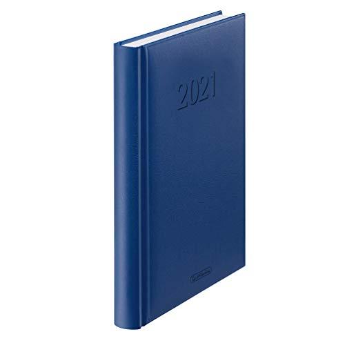 Herlitz Buchkalender 2021 / Chefkalender / A5 / Farbe: blau
