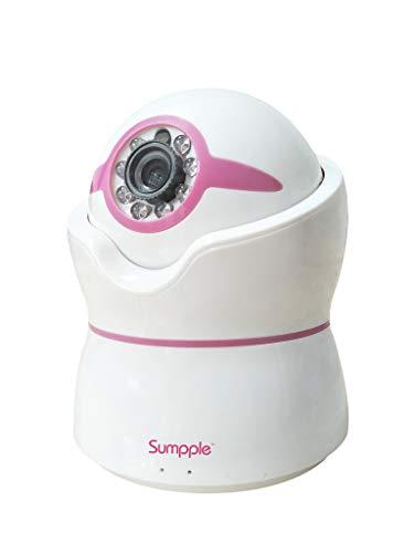 Überwachungskamera Wlan IP Kamera Babyphone 720P Smart PTZ Kamera Innen /Zuhause Drahtlose Sicherheitskamera mit 2 Wege Audio Bewegungsalarm Nachtsicht Wiegenlied Spieler für Baby Überwachung Rose