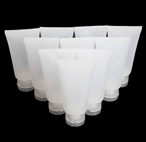 DMtse 10PCS Dull Polish Empty Cosmetic Soft Tube Make Up Container Min (15ml10PCS)