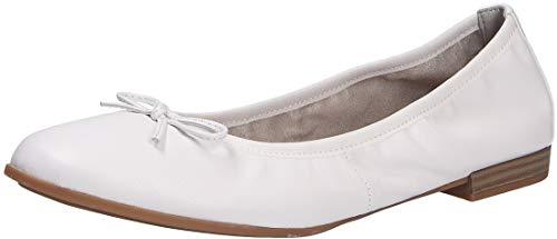 Tamaris Damen Ballerina, weiß(White), Gr. 37