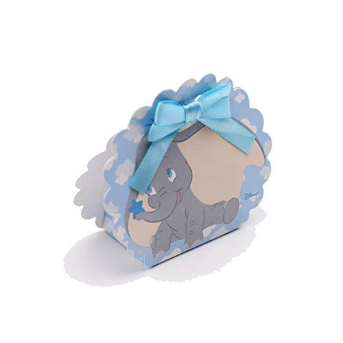 VialeMagico Bomboniere Dumbo Bimbo Disney Scatoline Nuvola Battesimo Nascita Kit 10 Pezzi con Confetti