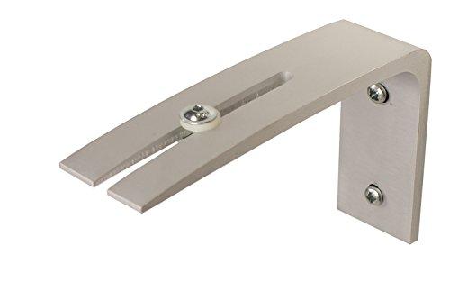 iso-design Wandträger für Gardinenschienen - alufarbig