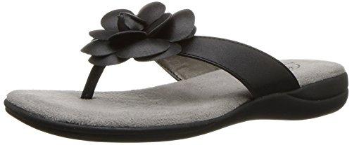 LifeStride Women's Elita Flip Flop, Black, 5.5 M US
