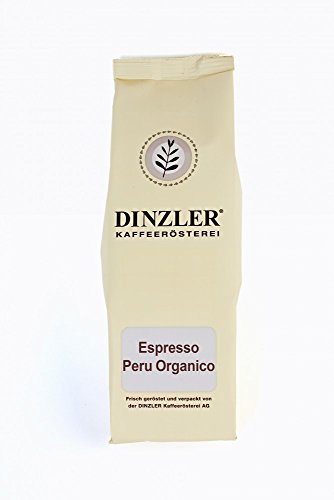 Dinzler Kaffeerösterei - Espresso Peru - ganze Bohne - 1000 g - Bio