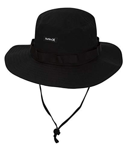 Hurley Men's Vagabond Bucket Sun Hat, Black, S-M