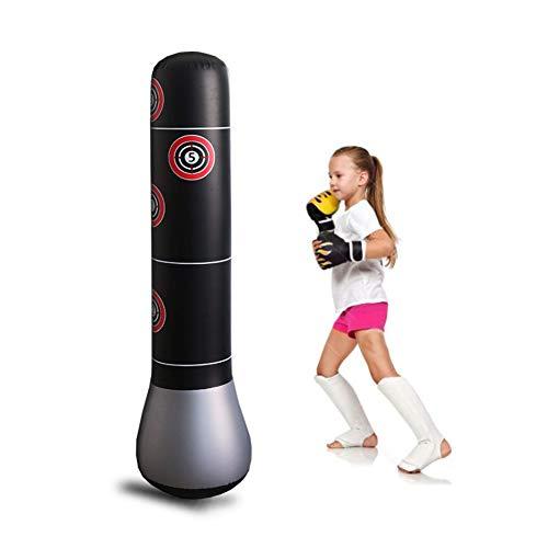 BESTEU Aufblasbare vertikale Boxsäule Sport Boxsack Tumbler Sandsäcke Boxsack für Kinder Erwachsene