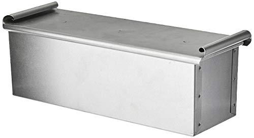 Paderno - Bacinella/Cassetta/Stampo Multiuso Alluminata per Pane, Pan Carre, Torte, con Coperchio - Lunghezza 30 cm, Larghezza 10 cm, Altezza 10 cm