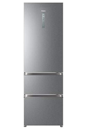 Haier HTR5619ENMP Kühl-Gefrier-Kombination / Edelstahlfront / 190 cm / 234 L Kühlteil / 114 L Gefrierteil / MyZone Plus / Humidity Zone / ABT / Daylight / Fresher Pad / Total No Frost