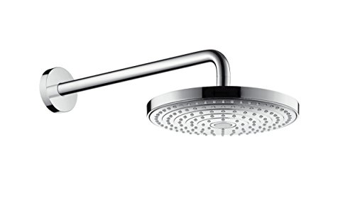 hansgrohe Raindance Select S 240 wassersparender Duschkopf, Kopfbrause für Deckenmontage, 2 Strahlarten, Chrom