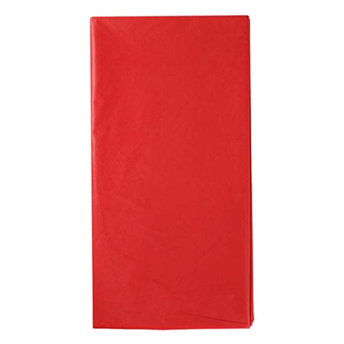 VORCOOL 4pcs Nappe en Plastique Rectangle Nappe Nappe imperméable jetable pour Pique-Nique Banquet fête événement 108 x 54 Pouces (Rouge)