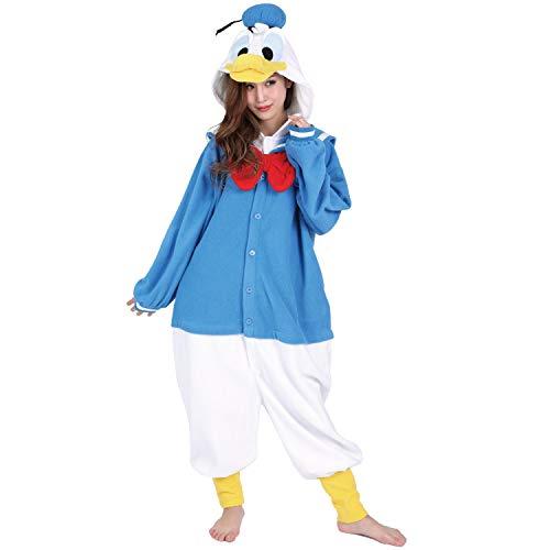 『ディズニー ドナルド 着ぐるみ 大人用 フリース フリーサイズ』の1枚目の画像
