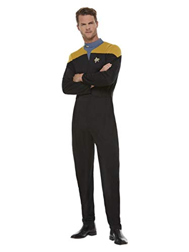 Smiffy's-Smiffys Officially Licensed Star Trek, Voyager Operations Uniform oficial, multicolor, XL-Size 46'-48' 52445XL