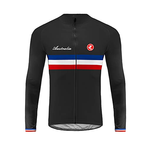 Future Sports Bike Wear Newest Designs Maillot Ciclismo Hombre, Maillot Bicicleta Hombre, Camiseta Ciclismo con Manga Larga 100% Poliéster Transpirable Top