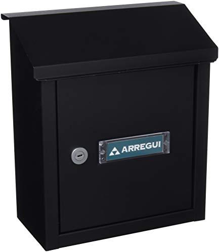 Arregui V4094 Buzón Recogecartas de Acero, tamaño S (DIN A5), Negro