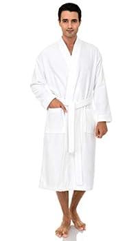 TowelSelections Men's Robe Turkish Cotton Terry Kimono Bathrobe X-Large/XX-Large White