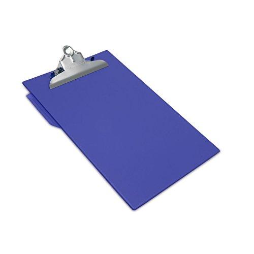 Rapesco CD1000L2 - Portapapeles rígido con clip de seguridad y soporte para bolígrafo, color azul