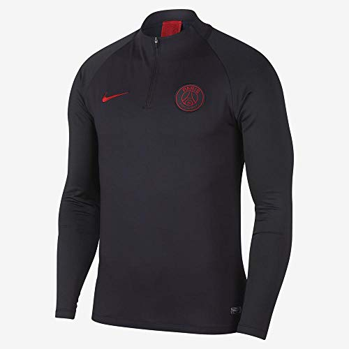 Nike PSG M Nk Dry Strk Dril Top - Long Sleeve Top Herren XL Grau / Rot (Oil Grey/Oil Grey/University red)