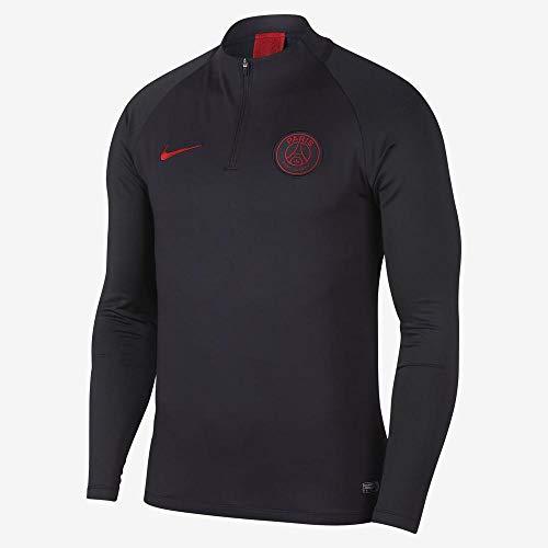 Nike PSG M Nk Dry Strk Dril Top - Long Sleeve Top Herren L Grau / Rot (Oil Grey/Oil Grey/University red)