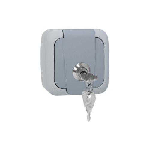 Aufputz Steckdose Feuchtraum IP54 AP Einzelsteckdose Abschließbar Schließung 1