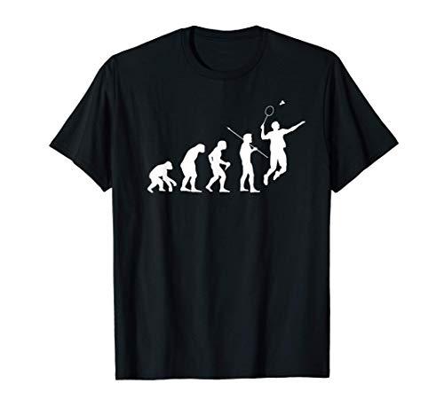Badminton Spieler Geschenk Evolution für Badminton Turnier T-Shirt