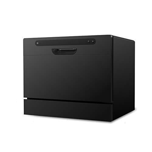 LIUHUI Geschirrspüler Kompakte Arbeitsplatte - Tragbarer Geschirrspüler Mit Intelligentem HD-LED-Steuerbildschirm, Verstecktem Griff, Sauber Und Verstopfungsfrei, Für Büro- Und Wohnküche, Weiß