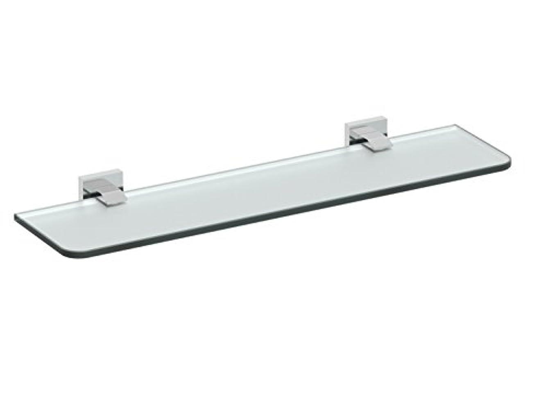 Eviva EVAC80CH Klim Glass Shelf Wall Mount (Chrome) Bathroom Accessories Combination,