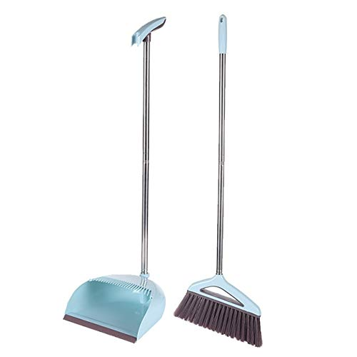 Mdsfe broom dust pan set foldable household cleaning tool plastic PP broom combination soft hair cleaning dust-free assistant set -2