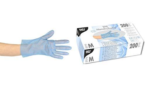 PAPSTAR EinwegHandschuh aus TPE, blau, Größe S 84284