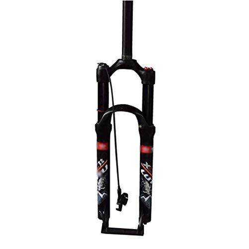 BSLBBZY MTB Air Spring Tenedor de Aire 26er 27.5er 29er Suspensión Mountain Fork Bicycle MTB Fork Smart Lock 123mm Travel Horquilla de Bicicleta MTB (Color : A, Size : 29INCH)