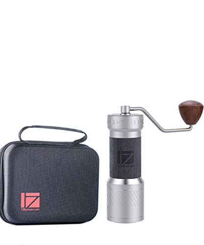1Zpresso K-PLUS Manual Coffee Grinder with Assembly Consistency Grind Stainless Steel Conical Burr, Intuitive Numerical External Adjustable Setting, Magnet Catch Cup Capacity 40g