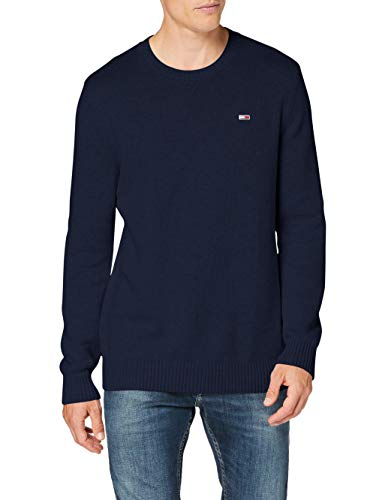 Tommy Hilfiger Tjm Essential Crew Neck Sweater Maglione, Twilight Navy, XS Uomo