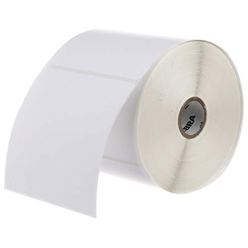 Zebra 4 x 4 in Direct Thermal Paper Labels Z-Perform 2000D Permanent Adhesive Shipping Labels 1 in Core 6 rolls 10031642SP