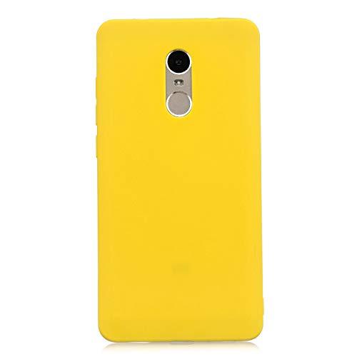 cuzz Funda para Xiaomi Redmi Note 4+{Protector de Pantalla de Vidrio Templado} Carcasa Silicona Suave Gel Rasguño y Resistente Teléfono Móvil Cover-Amarillo