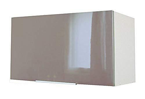 Berlenus CH6HT Küchenoberschrank, 60 x 34 x 35cm, glänzend, Taupe