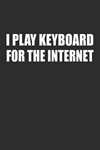 I Play Keyboard For The Internet: Cool Useful Novelty Gift for Programmer ~ Small Lined Notebook (6'' X 9