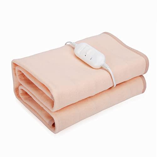 AHIN Calientacamas Eléctrico Mantas Eléctricas De Individual, Manta Térmica con 2 Niveles Temperatura Y Controladores, 1,5 * 0,7 M, Adecuada para Uso Escolar En Casa,Beige