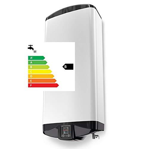 Elektroboiler Warmwasserspeicher 3,3 kW 230 Volt zur HORIZONTALEN oder VERTIKALEN Montage - 2-Kammer-System - Gehäusetiefe NUR 30cm - 50 80 100 L Liter