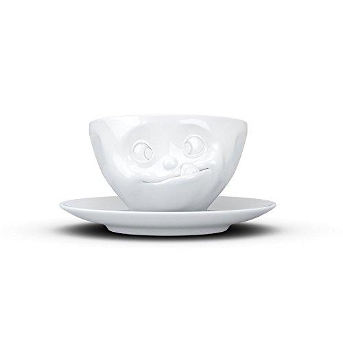 FiftyEight Kaffeetasse, Porzellan, Weiß, 13 cm