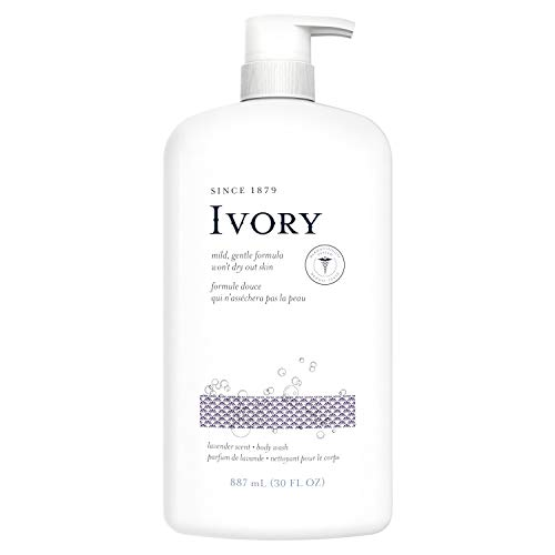 Ivory Clean Lavender Body Wash, 100% Gluten, Paraben, And Phthalate Free, 30 Fl Oz (Pack Of 4)