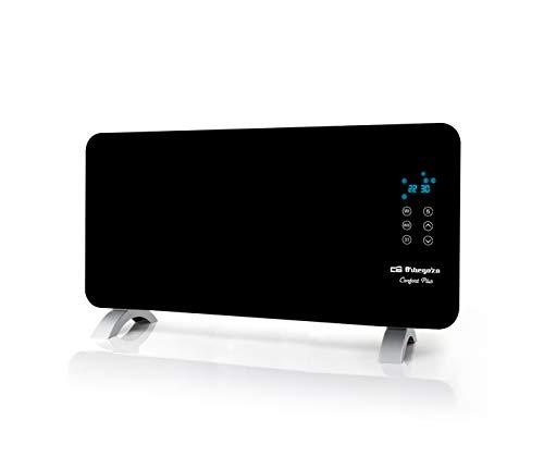 Orbegozo REH 1550 verwarmingspaneel met voorkant van gehard glas in zwart, geschikt voor badkamer, afstandsbediening en timer 1500 Watt vermogen