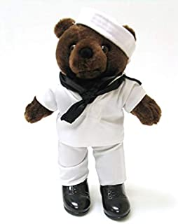 Artisan Owl United States Navy Service Dress White Uniform Plush Teddy Bear